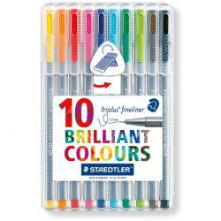 Triplus Fineliner Desktop Set of 10