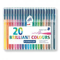 Triplus Fineliner Desktop Set of 20