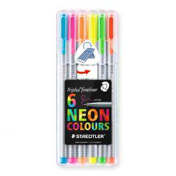 Triplus Fineliner Neon Set of 6