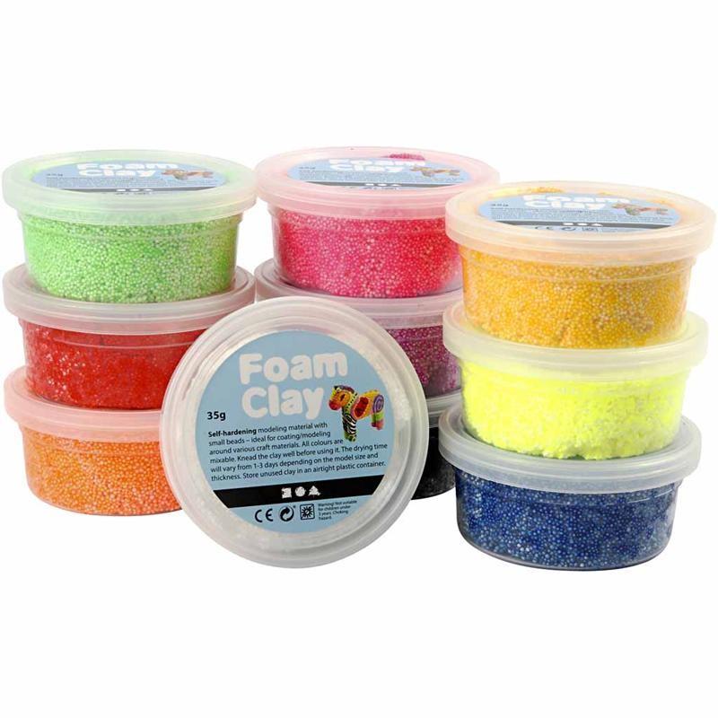 Foam Clay Basic Pack of 10