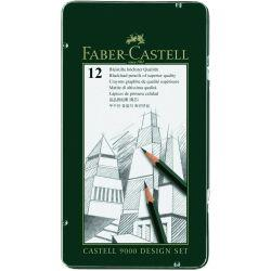 Faber-Castell 9000 Pencils Design Set of 12