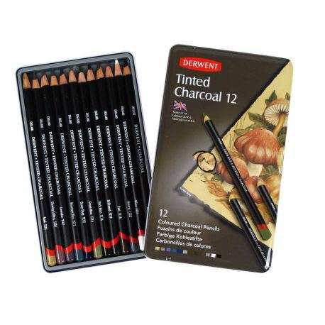 Tinted Charcoal Pencil Set of 12