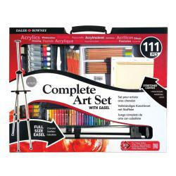 Simply Complete Art Set With Easel (111 Pieces)