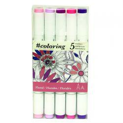 Colouring Marker Set: Floral (5 Markers)