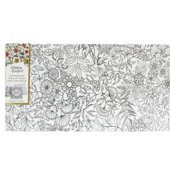 "Johanna Basford 12"" x 24"" Colouring Canvas: Secret Garden"