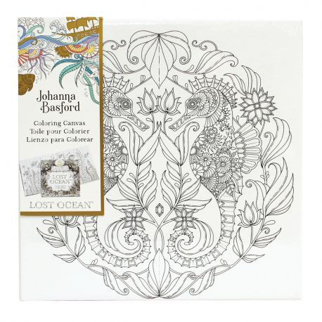 Johanna Basford 12 X Colouring Canvas Lost Ocean