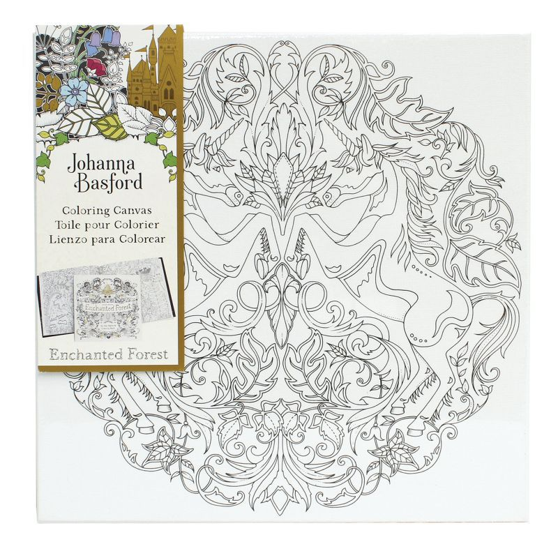 Johanna Basford 12 X 12 Colouring Canvas Enchanted Forest