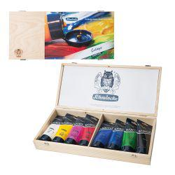 College Acrylic Wooden Box Set 83706 (8 x 200ml)