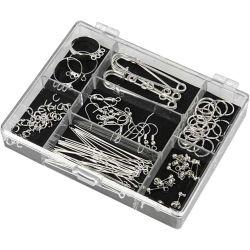 Jewellery Finding Starter Kit, silver-plated, SP, 1set.