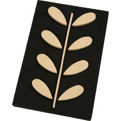 Foam Stamp, size 18x12 cm, thickness 3 mm, Rowan Leaf , 1pc.
