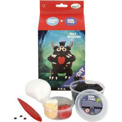 Foam Clay Funny Friend, black, monster, 1set.