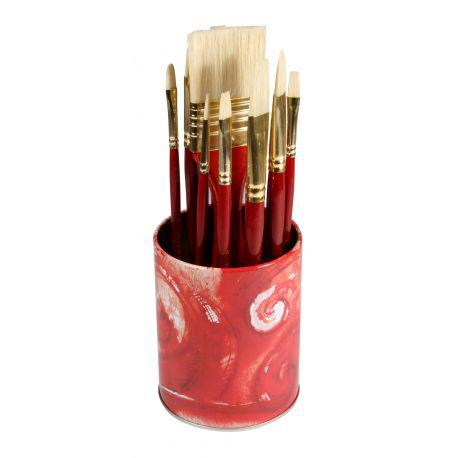 Simply Brush Pot Oil with 10 Bristle Brushes