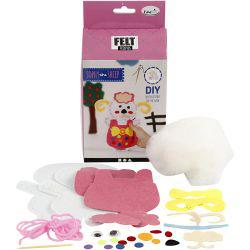 EasyKit Felt Friends, size 14x20 cm, sheep - Sophy, 1set.