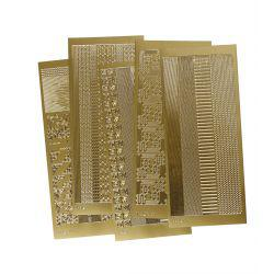 Peel Off Stickers , sheet 10x23 cm, gold, corners and borders, 5asstd sheets.