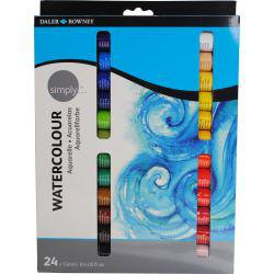 Simply Watercolour Set (24 x 12ml Tubes)