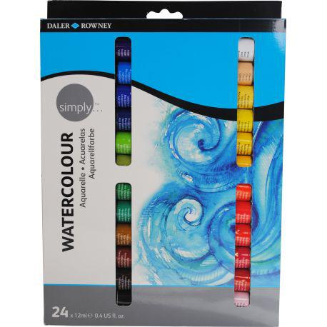 Simply Watercolour Set of 24x12ml Tubes