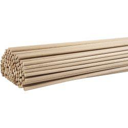 Wood Stick, L: 60 cm, D: 8 mm, beech, 10pcs.