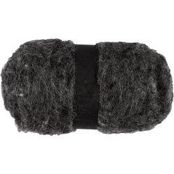 Carded Wool, natural grey, 100g.