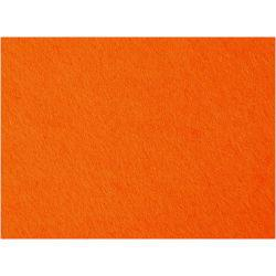 Craft Felt, sheet 42x60 cm, thickness 3 mm, orange, 1sheet.