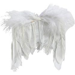 Feather Wings, W: 11 cm, white, 10pcs.