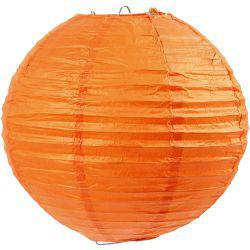 Paper Lamp, D: 20 cm, orange, 1pc.