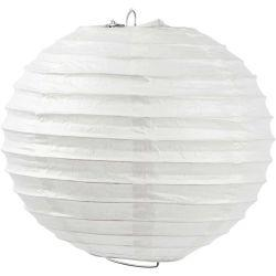 Paper Lamp, D: 20 cm, white, 1pc.