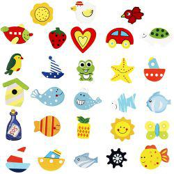 Wooden decorations, H: 35-40 mm, funny shapes, 100asstd.