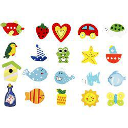 Wooden decorations, H: 35-40 mm, funny shapes, 10asstd.