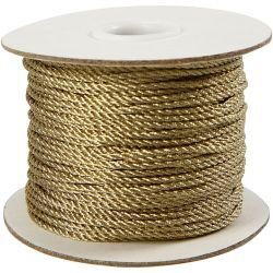 Cord, thickness 2 mm, gold, 50m.