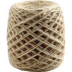 Natural hemp ribbon, thickness 1-2 mm, natural, 150m.