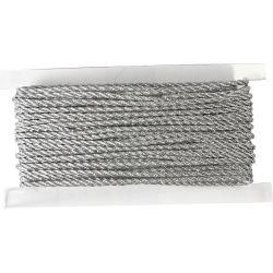 Cord, thickness 2 mm, silver, 5m.