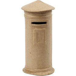 Money Box, mail box, H: 15 cm, D: 6,5 cm, 1pc.