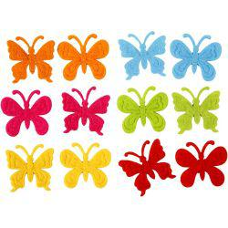 Felt Butterflies, size 30 mm, thickness 1,5 mm, 18asstd.