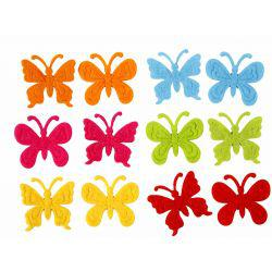 Felt Butterflies, size 3 cm, thickness 1,5 mm, 160asstd.
