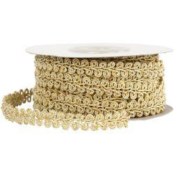 Braided Trim, W: 10 mm, gold, 10m.
