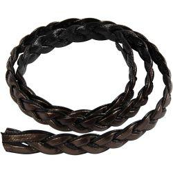 Braided Cord, W: 10 mm, brown, 150cm.