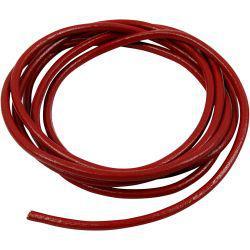 Leather Cord, thickness 4 mm, red, 2m.