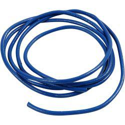 Leather Cord, thickness 4 mm, blue, 2m.