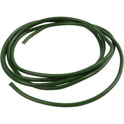 Leather Cord, thickness 4 mm, green, 2m.