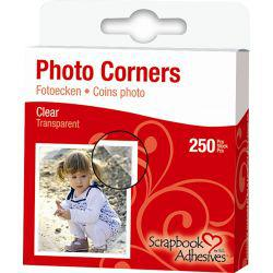 3L Photo Corners, 10 mm, clear, 250pcs.