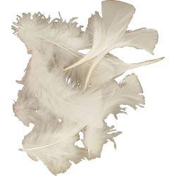 Feathers, size 7-8 cm, white, 500g.