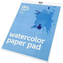 Watercolor Paper Pad, A3 297x420 mm,  180 g, white, 20sheets.