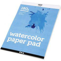 Watercolor Paper Pad, A4 210x297 mm,  180 g, white, 20sheets.