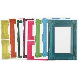 Frames, sheet 26,2x18,5 cm, strong colours, 16asstd sheets.