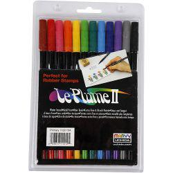 Le Plume II Pens, strong colours, 12pcs.