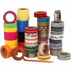 Washi Tape, W: 15+30+40 mm, 51x10m.