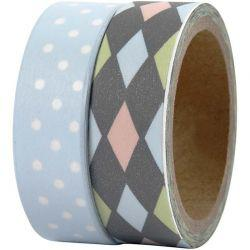 Vivi Gade Design Washi Tape, W: 15 mm, Bremen, 2x5m.