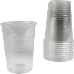 Plastic Cups, 40 cl , transparent, 50pcs.