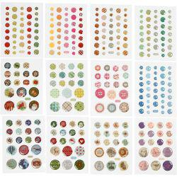 Stickers, D: 6-13 mm, 12packs.