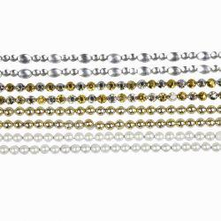 Stick-On Rhinestones, L: 15 cm, W: 4 mm, mother-of-pearl, gold, silver, 8sheets.